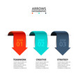 arrows for infographic template vector image vector image