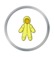 Baby bodysuit icon in cartoon style isolated on