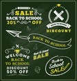 Back to school sale promotional badge and labels vector image
