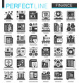 banking and finance black mini concept vector image vector image