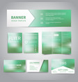 banner flyers brochure business cards gift vector image vector image