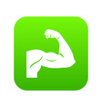 biceps icon digital green vector image