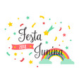 bright poster for festa junina vector image
