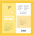 bun business company poster template with place vector image vector image