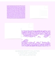 Business identity collection - mauve orchid vector image vector image