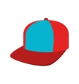 cap red and blue sport isolated vector image