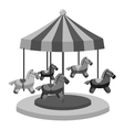 Carousel with horses icon gray monochrome style vector image vector image