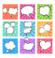cartoon comic bubbles speech retro balloons vector image vector image