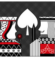casino poker queen and king spade card game black vector image vector image