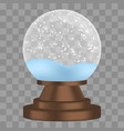 christmas snowglobe icon realistic style vector image