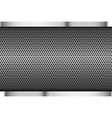 Chrome black and grey background texture vector image vector image