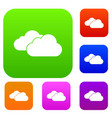 clouds set collection vector image vector image