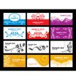 collection of glamorous business cards vector image