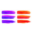 colorful watercolor brush strokes canvas texture vector image
