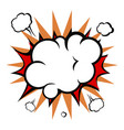 comic explosion cloud vector image