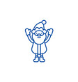 Cute santa claus line icon concept cute santa