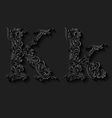 Decorated letter k vector image vector image