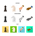 design checkmate and thin sign vector image