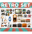 Different kind of retro objects vector image vector image