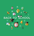 digital green school icons vector image vector image
