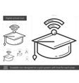 Digital school line icon vector image vector image