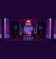 dining room interior in victorian style at night vector image