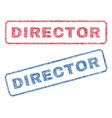 director textile stamps vector image vector image