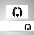 dog animal template vector image vector image