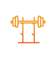 dumbbell equipment fitness gradient line vector image vector image