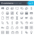 e-commerce simple thin icon set vector image vector image