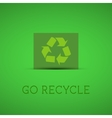 Eco background Recycle sign on a green card with