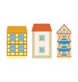 exterior of residence or villa building vector image