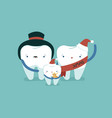 family dental on christmas day dental concept vector image