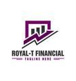 financial business traffic logo vector image vector image