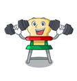 fitness character baby eat on highchair indoors vector image