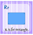 Flashcard alphabet R is for rectangle vector image
