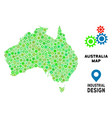 gears australia map collage vector image