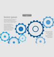 gears mechanical concept infographic abstract vector image vector image