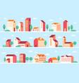 geometric minimalist house vector image vector image