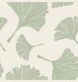 ginkgo biloba plant line art pale sage colored vector image