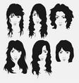 girl hairstyle and hirecut with face vector image vector image