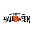 happy halloween text banner silhouette vector image