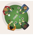 Home game gambling friendly tournament three of vector image vector image