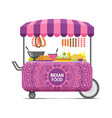 indian street food cart colorful image vector image