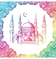 Islamic mosque and ornament vector image vector image