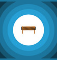 isolated coil copper flat icon bobbin vector image vector image