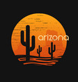 landscape of arizona state t-shirt design vector image vector image
