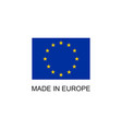 made in europe sign vector image vector image