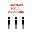maintain social distancing minimalist poster vector image vector image