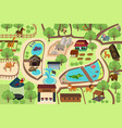 map of a zoo park vector image vector image